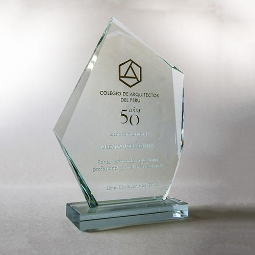 Homenagem - Colégio de Arquitetos do Peru - 50 anos - Reconhecimento pelo Trabalho - 2012